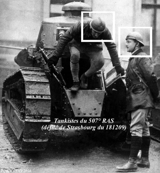Artillerie Spéciale - Casques chars modifiés de la période