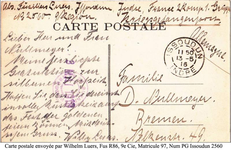 carte postale allemand